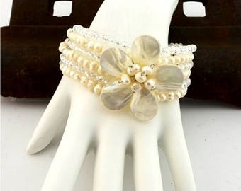 Pearl Bracelet Multiple Strands