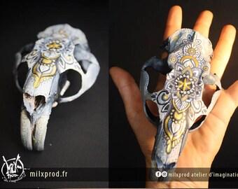 SOLD painted Beaver skull