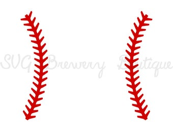 Baseball Stitch svg, png, dxf, pdf for cricut, silhouette studio, cutting machines, vinyl decal, stencil template, t shirt design