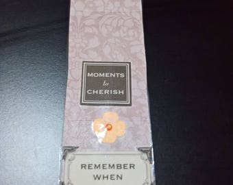 Bookmark with Fabric Flower