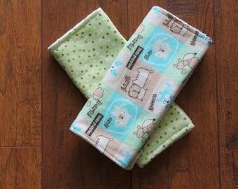 Baby Shower Burp Cloths Gift Set 2 Burp Rags Newborn New Baby Gift