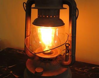 Rustic Kerosene lamp with Edison bulb