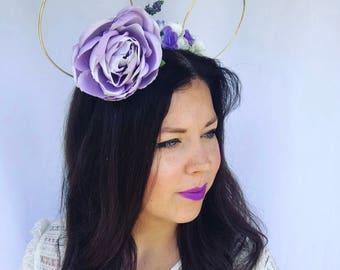 Oversized Reversible Flower Ears | Flower Crown Ears | Flower Wire Ears