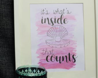 Original Watercolour Painting | It's What's Inside That Counts