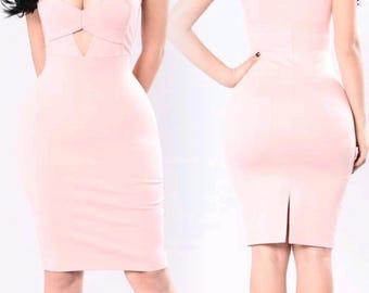 Light Coral Mini Dress