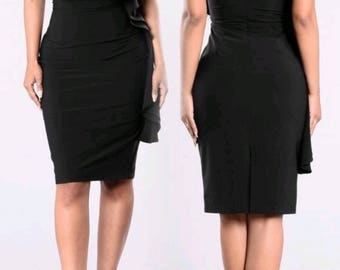 Black Ruffle Mini Dress