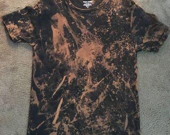dope bleached t-shirt custom