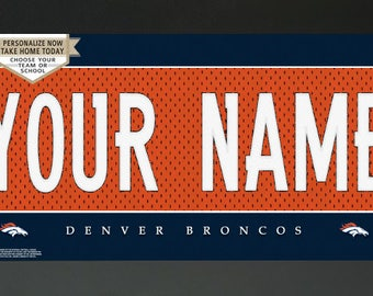 Denver Broncos NFL Jersey Custom Frame Sign