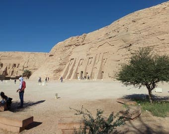 Abu Simbel, the two Tempels - Signiert Photo 1-5th copy