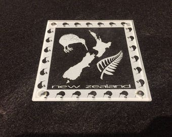 New Zealand etched coasters