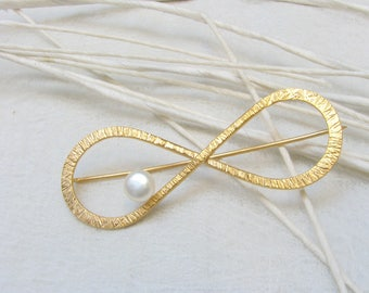LaLune -  gold plated Infinity Silverbroche