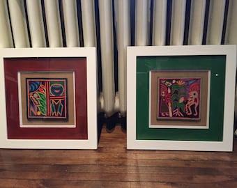 mexican art, cuadros, tableaux, huichol art, arte huichol,