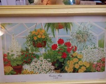 Art Print Greenhouse Array. D. (Dorothy) Saar framed print.