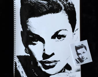 Judy Garland Ink Sketch Painting