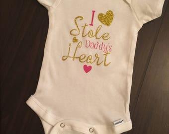 I Stole Daddy's Heart Bodysuit