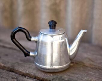 Small metal teapot, Russian teapot, Kitchen home decor, Vintage Soviet design, Tea kettle, Serving houseware, Made in USSR
