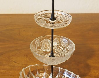 Etagere 3-piece glass Upcycling
