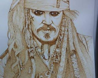 Johnny Depp 9x12