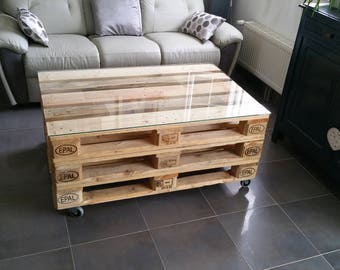 Table low industrial three pallets