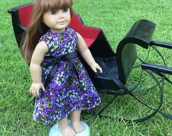 18 inch doll Purple Sundress