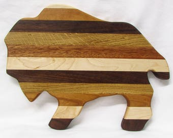 Wooden Buffalo Bison Handmade Cutting Board & Serving Tray