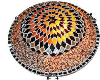 W10030 Handmade Turkish Mosaic Ceiling Light Lamp