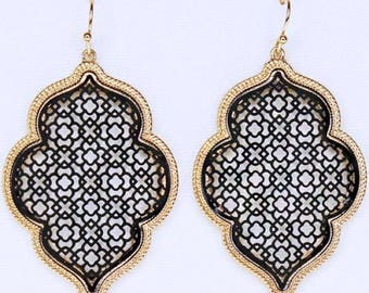Black Moroccan earrings