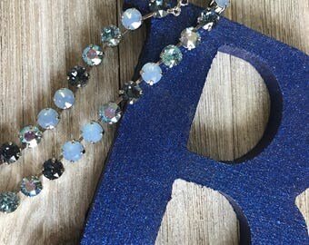 Swarovski Crystal Necklace, 'Beautiful Blues'