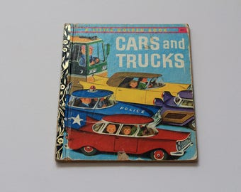 Vintage 1974 'Cars and Trucks' Little Golden Book No. 367