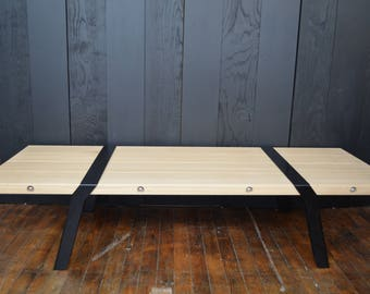 Table solid oak planks bass