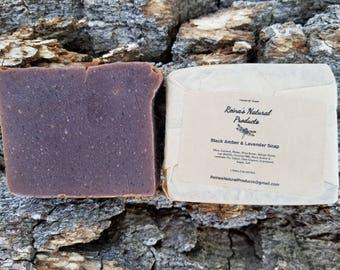 Black Amber & Lavender Soap
