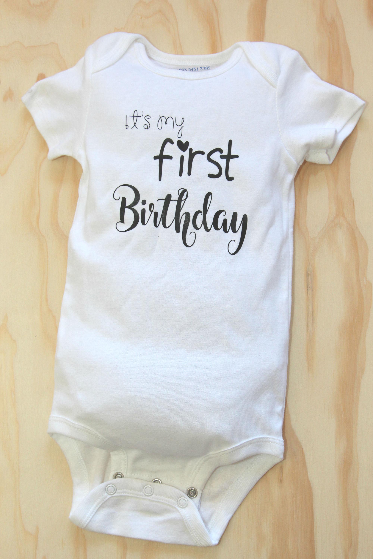 Custom Baby First Birthday Shirt