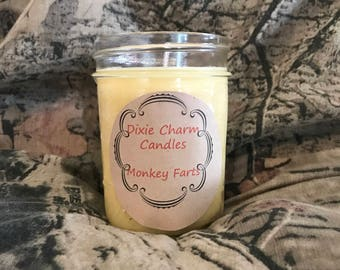 Monkey Farts Soy Wax 8oz Candle