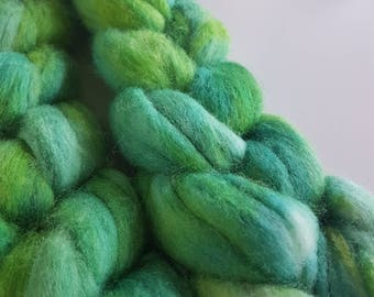 Hand Dyed Merino Silk Roving - ocean tides