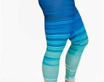 50 Shades of Blue Leggings