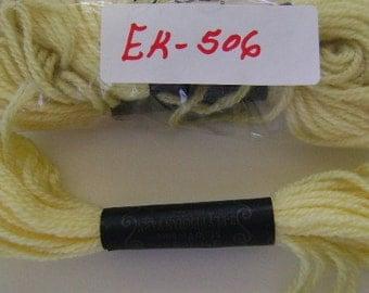 Yarn, Paragon, 100% Wool Crewel Needlepoint, #596 Pale Lemon Yellow, 8.8 Yards
