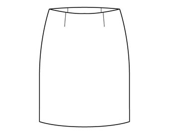 Basic Skirt Pattern Block with Waist Darts - Girls Ages 3-6 - Download PDF