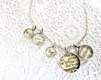 we rise by lifting others necklace, message necklace