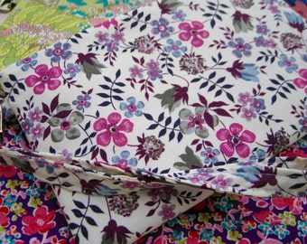 Wedding Clutch 2 pockets,medium,pink purple,discount plan set, wristlet, cotton - pink purple flora