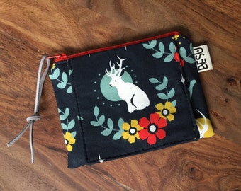 Card Cash Mini Wallet - Navy Jackalope