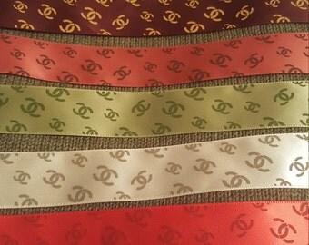 7 yards silk satin Ribbon multi colored designer precut craft diy supply