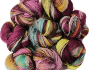 Shapeshifter battlings -- mini batts (2 oz.) organic polwarth wool, bamboo, soysilk, sparkle.