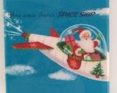 Santa's Spaceship Christmas Coaster