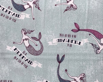 Weighted Blanket - Adult or Child - Mermaids - Choose your weight (up to 14 lbs) and minky color - custom