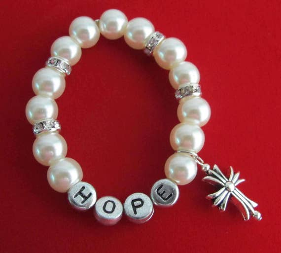 Personalized first communion pearl bracelet,confirmation gift,Baptism Bracelet,Cross Charm,Baby Name,Christening Gift,Free Shipping USA