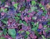 Destash Glass Frit Blend Purple Green Pink COE 96 0.4 oz Bag