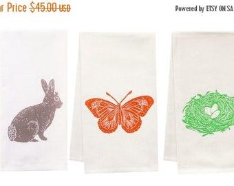 NEW ROOF SALE Spring Fever organic tea towel set