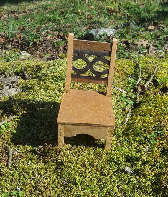 Dollhouse Chair Folk Art Vintage