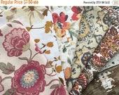 50% OFF- Fat Quarter Bundle- Fabric -Reclaimed Bed Linen fabric-Autumn Retreat