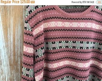 SALE- Retro Mauve Sweater-JcPenney Fashions-Medium
